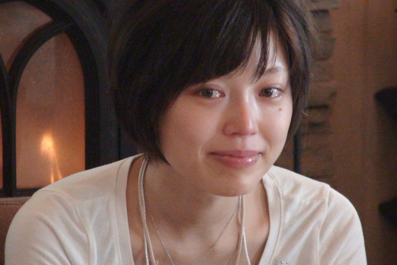 受講生同士の座談会で、自分の過去の体験を話し涙するいぶちゃん